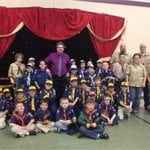 A happy scout troop